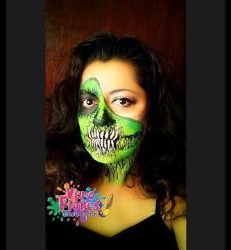 Calavera verde maquillaje
