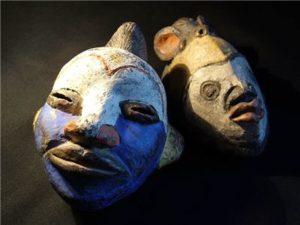 mascara cara de mujer africana
